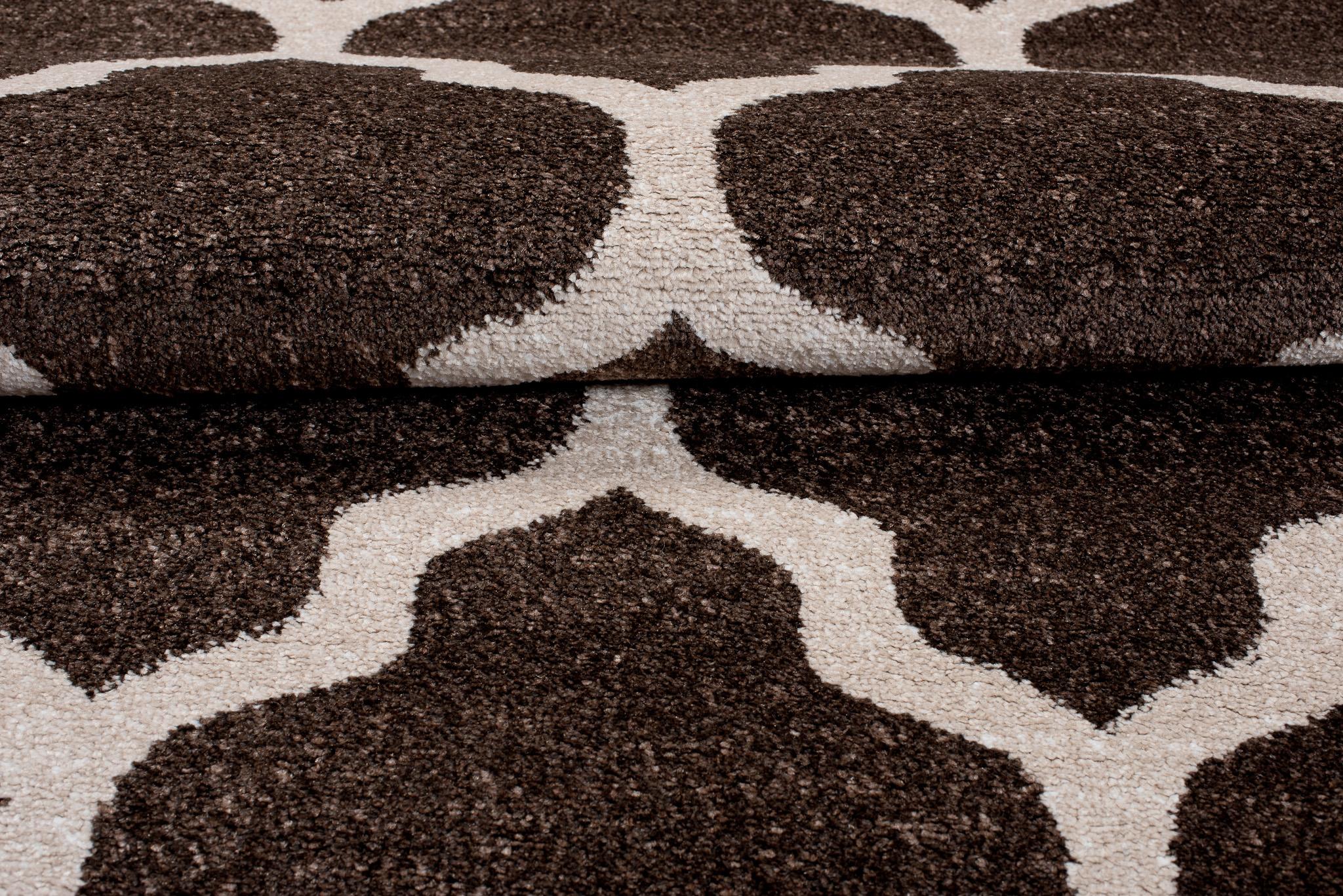 designer teppich wohnzimmer teppich braun mit modernen. Black Bedroom Furniture Sets. Home Design Ideas