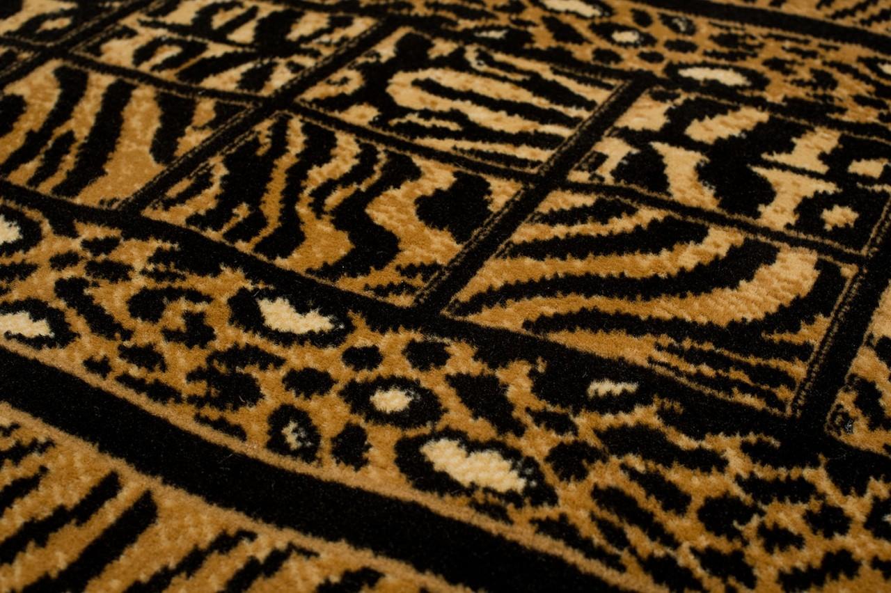 l ufer teppich flur br cke muster tierfell in schwarz. Black Bedroom Furniture Sets. Home Design Ideas