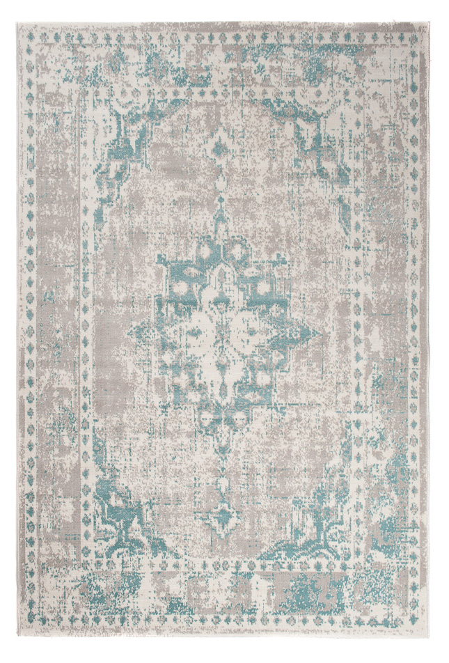 Tapiso Verse Teppich Kurzflor Modern Orient Rosette Designer Muster