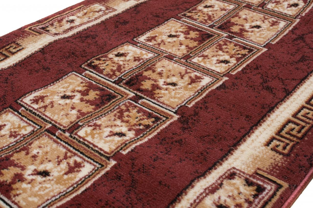 l ufer teppich flur br cke muster griechisch in braun teppichl ufer klassisch kollektion. Black Bedroom Furniture Sets. Home Design Ideas