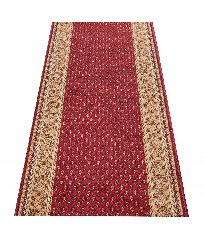 l ufer br cke flur teppich muster antik in burgund rot. Black Bedroom Furniture Sets. Home Design Ideas