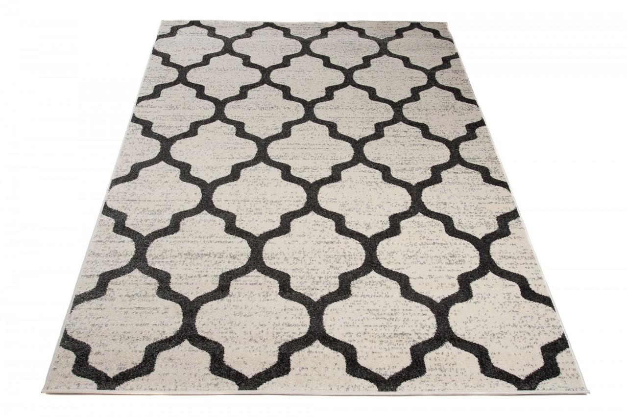 designer teppich wohnzimmer teppich kurzflor creme modern marokkanische muster online shop. Black Bedroom Furniture Sets. Home Design Ideas