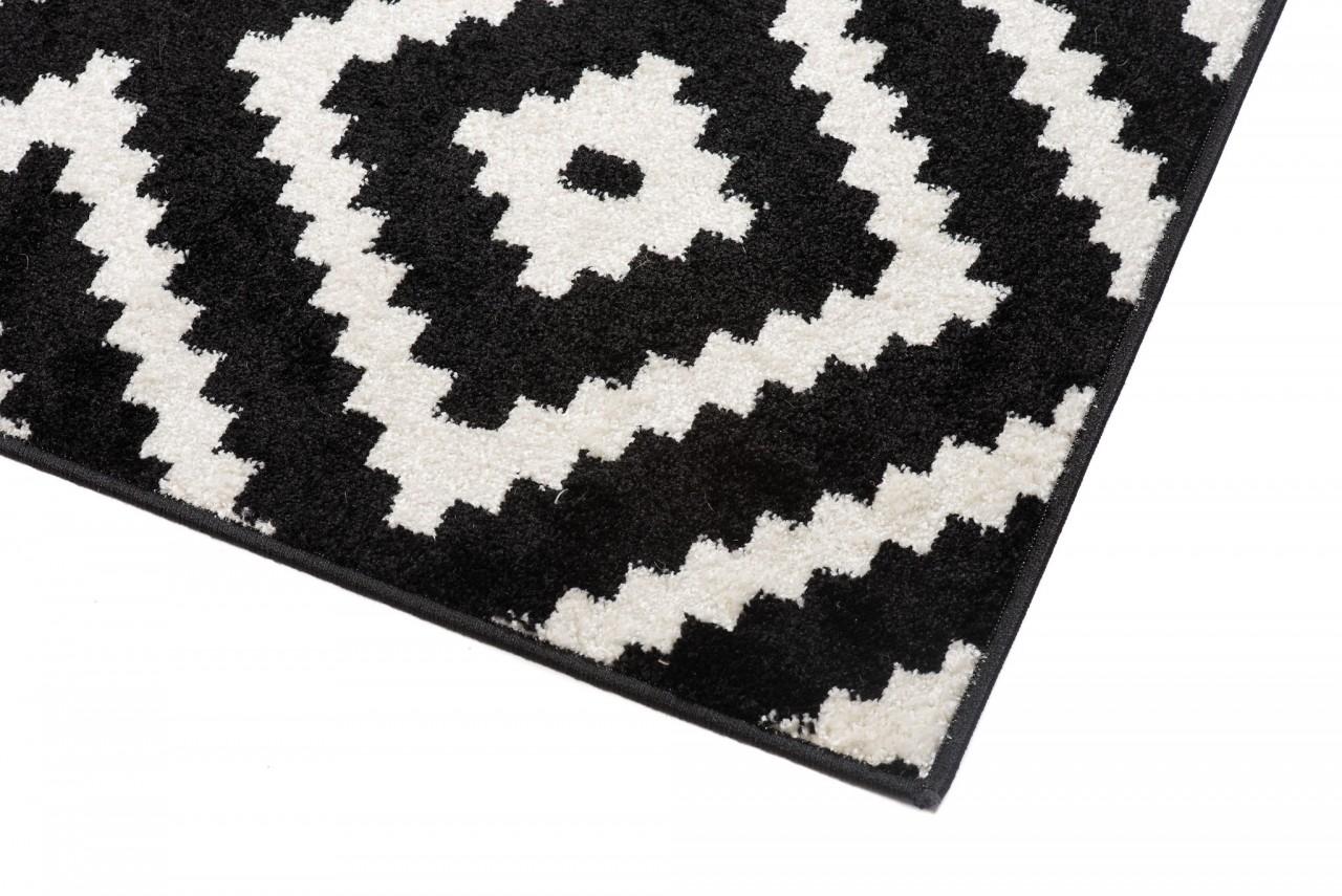 designer teppich wohnzimmer teppich kurzflor schwarz creme. Black Bedroom Furniture Sets. Home Design Ideas