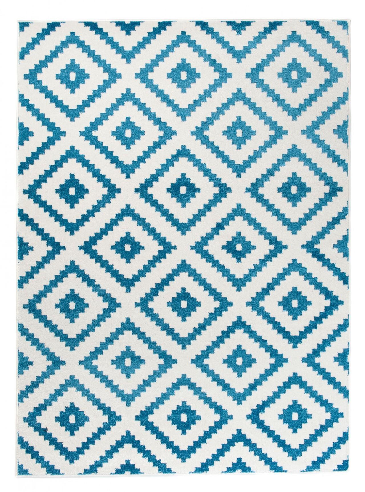 designer teppich wohnzimmer teppich kurzflor creme blau. Black Bedroom Furniture Sets. Home Design Ideas
