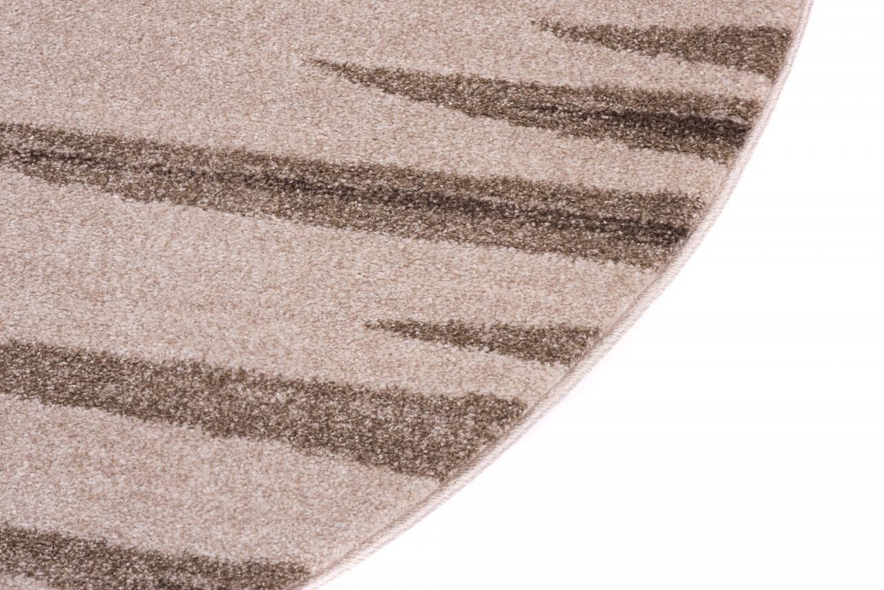 teppich wohnzimmer oval teppiche meliert kurzflor muster streifen farbe beige qualit t neu. Black Bedroom Furniture Sets. Home Design Ideas