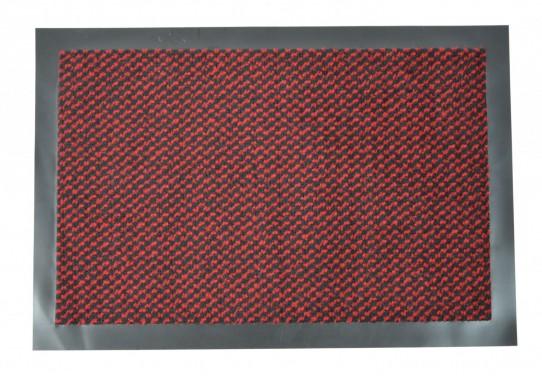 TAPISO Orkan Fußmatte Türmatte Strapazierfähig Innenbereich Außenbereich Türvorleger Rot Schwarz Antirutsch Fußabtreter