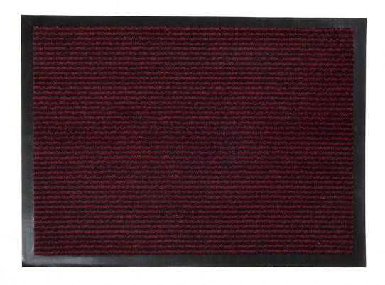 TAPISO Orkan Fußmatte Türmatte Strapazierfähig Innenbereich Außenbereich Türvorleger Schwarz Rot Antirutsch Fußabtreter
