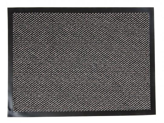 TAPISO Orkan Fußmatte Türmatte Strapazierfähig Innenbereich Außenbereich Türvorleger Grau Schwarz Antirutsch Fußabtreter