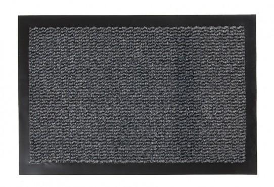 TAPISO Orkan Fußmatte Türmatte Strapazierfähig Innenbereich Außenbereich Türvorleger Schwarz Grau Antirutsch