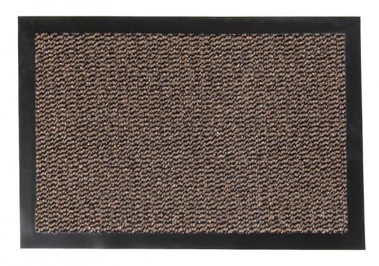TAPISO Orkan Fußmatte Türmatte Strapazierfähig Innenbereich Außenbereich Türvorleger Beige Schwarz Antirutsch Schmutzfangmatte