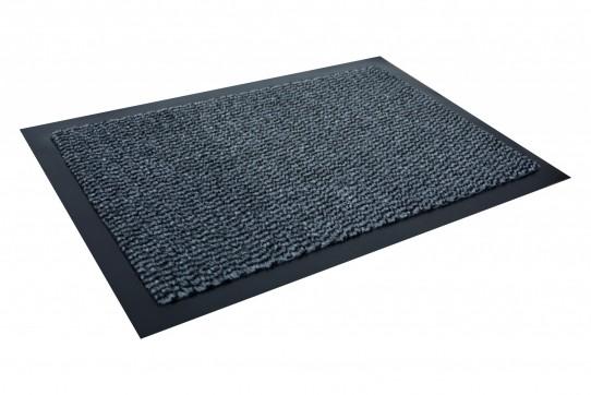TAPISO Orkan Fußmatte Türmatte Strapazierfähig Innenbereich Außenbereich Türvorleger Schwarz Grau Blau Antirutsch Fußabtreter