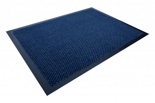 TAPISO Orkan Fußmatte Türmatte Strapazierfähig Innenbereich Außenbereich Türvorleger Schwarz Blau Antirutsch Fußabtreter