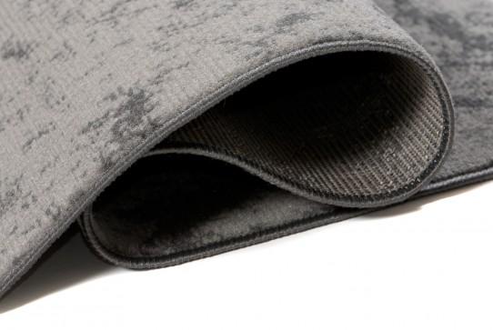 Dywan nowoczesny C581D BLACK/ BALI PP szary