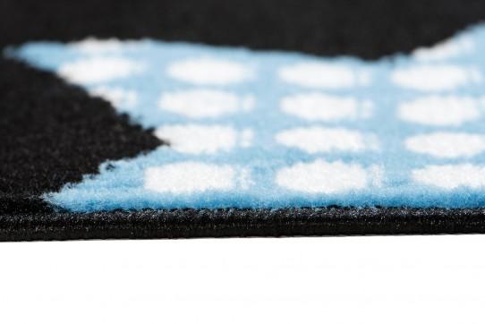 Dywan nowoczesny C516D BLACK/ BALI PP niebieski